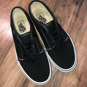 Black Canvas Low Top Vans